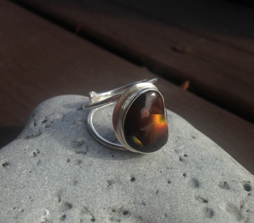 heart agate ring