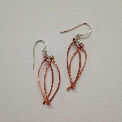 Copper Wing Earrings